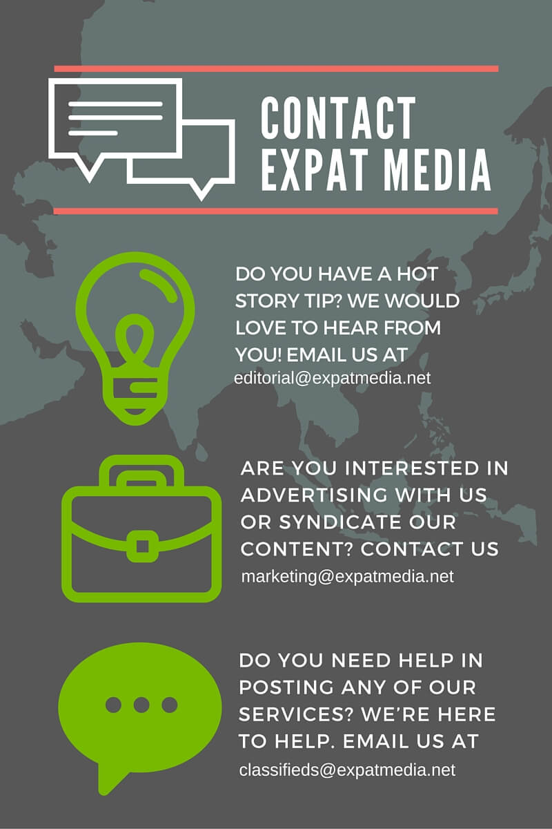 Do you have a hot story tip- We would love to hear from you (editorial@expatmedia.net).