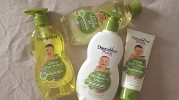 Review: DermoViva Baby Olive shampoo, lotion, oil and cream