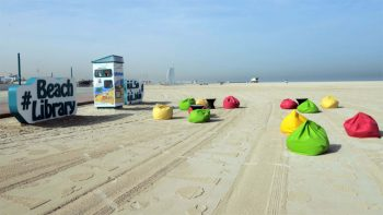 Middle East's first beach library opens in Dubai