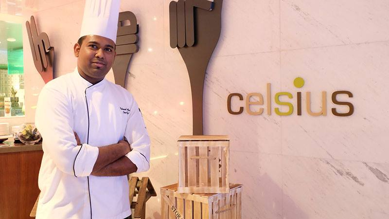 Chef Mohammed Abu of Celcius at nassima royal hotel